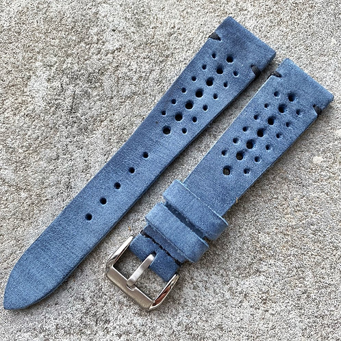Bracelet rallye 20/16 mm cuir Us vintage denim washed