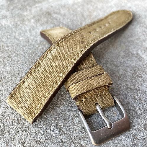 bracelet 18/18mm canvas/cuir us vintage