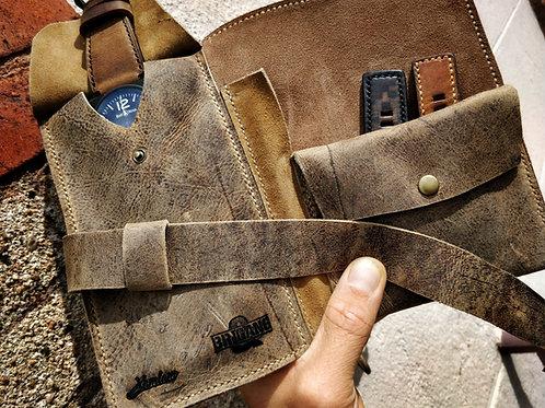 Marmotte 1 montre BR en cuir US vintage et canvas militaire