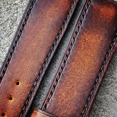 Bracelet 20/18 cuir veau patiné boisé