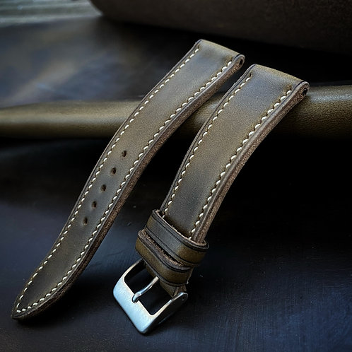 Bracelet cuir US olive chromexcel