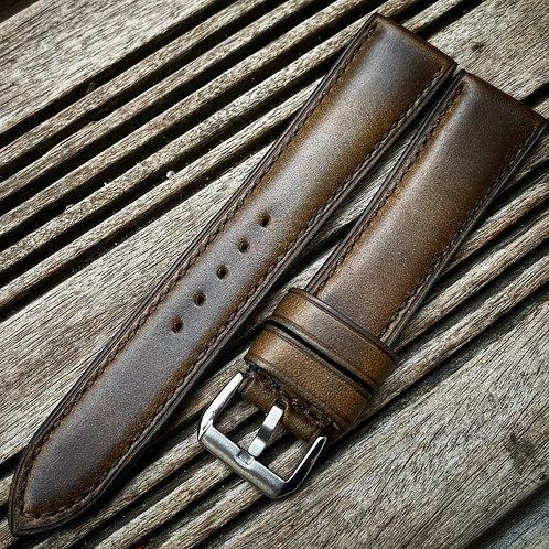 Bracelet 20/18 cuir US olive vintage