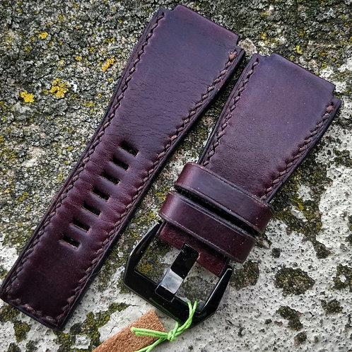 Bracelet pour B&R 01/03 cuir US burgundy