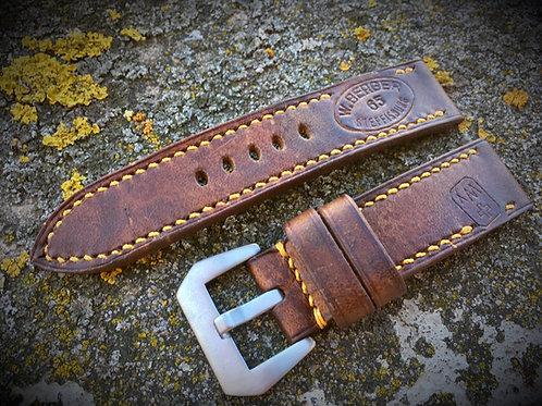 Bracelet cuir Ammo cartouchière suisse avec inscriptions
