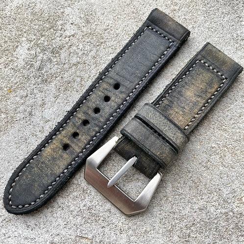 Bracelet cuir  24/24 dirty grey