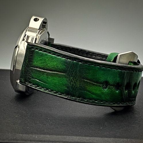 Bracelet cuir alligator patiné 24/24