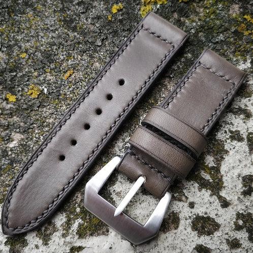 Bracelet cuir 24/24 gris