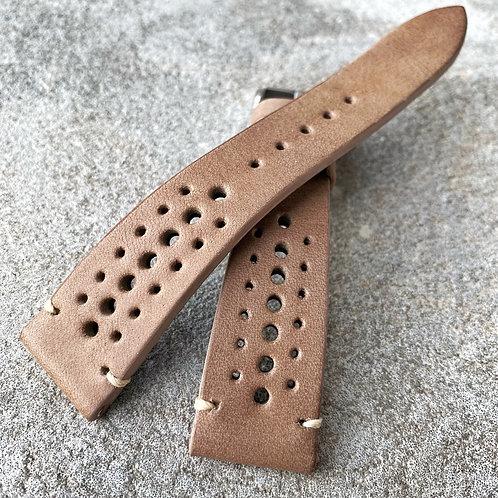 Bracelet rallye 20/16 mm cuir Us taupe