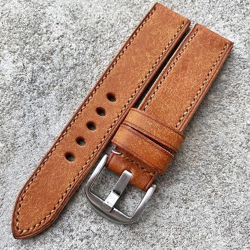 Bracelet 20/20 cuir italien noisette