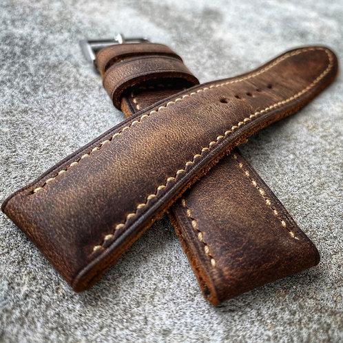 Bracelet cuir us brown vintage