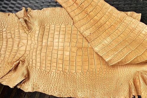 Bracelet cuir alligator miel