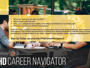 NEW ONLINE PhD Navigator Tool! Enroll TODAY!