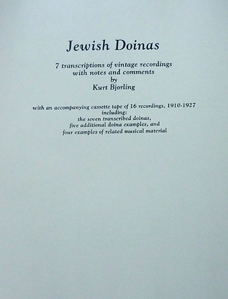 Jewish Doinas