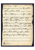 Manuscript for Odessa Bulgar, by Abe Schwartz (Library of Congress, USA)