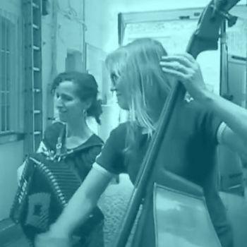 Members of London Klezmer Quartet