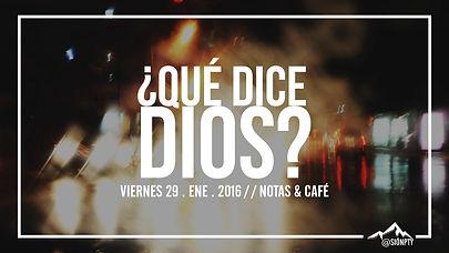 -qué dice Dios