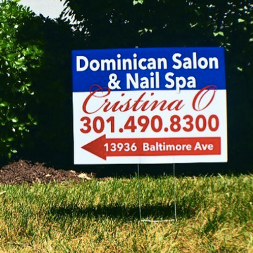 10 - 24 x 18 Coroplast Signs / Designed / With H Stands