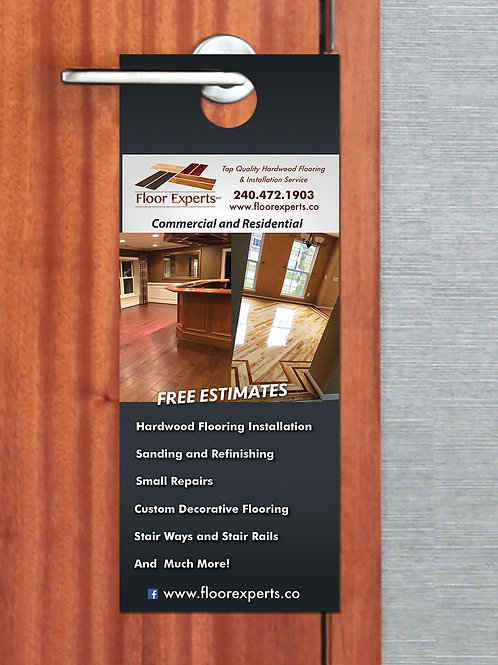 Custom Door Hangers - UV Coated - 4.25 x 11