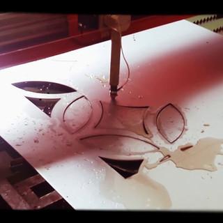 Corte a plasma de peça decorativa