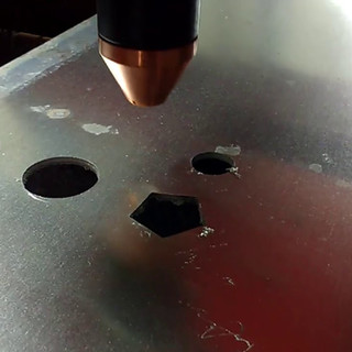 Corte plasma em chapa de alumínio 1,5 mm