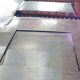 Corte a plasma de alumínio 1 mm
