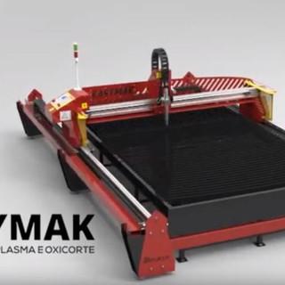 Easymak Máquina de Corte Híbrido Plasma CNC e Oxicorte