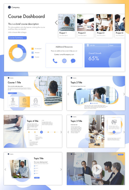 eLearning UI/UX Art Direction