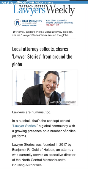 Mass Lawyers Weekly- Lawyer Stories
