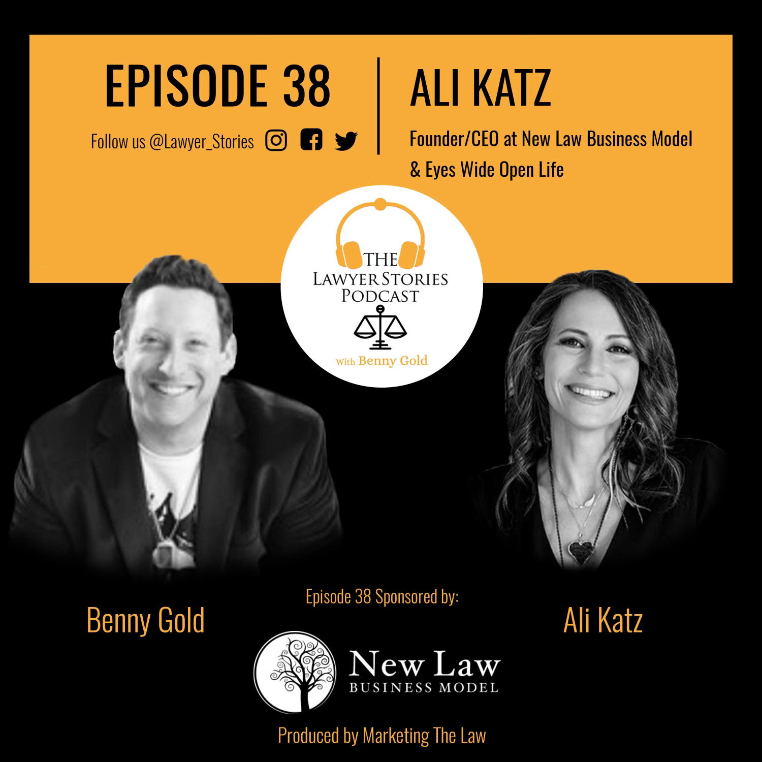The Lawyer Stories Podcast Episode 38 featuring Ali Katz