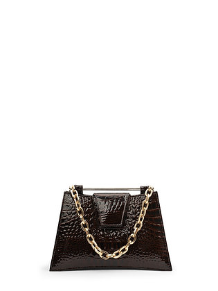 IVA Brown Croco Embossed Leather