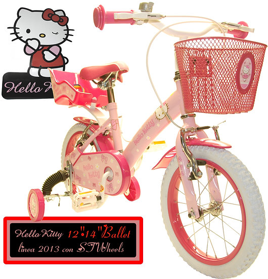 BICICLETTE HELLO KITTY 12-14