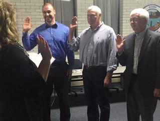 Retiring Members Recognized, New Board Sworn-In