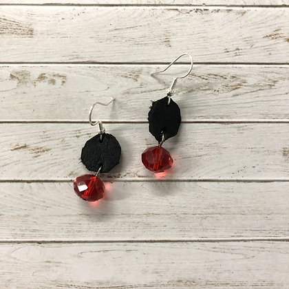 Black and Red Earrings - Donation of $12