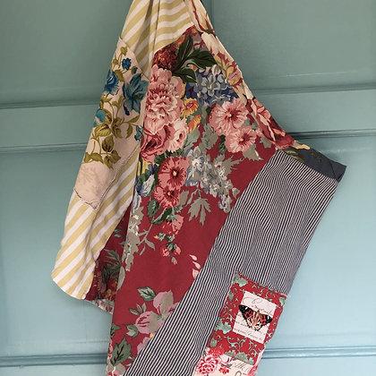 Patchwork Wrap Skirt / Apron - Primitive Fringe - Donation of $30