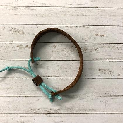 Brown Leather Adjustable Bracelet - Donation of $12