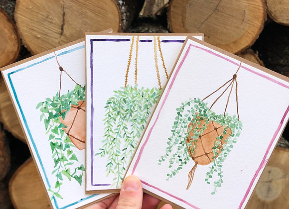 """Hang In There"" Handmade Cards - 3/set - Donation of $10"