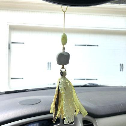 Yellow Fringe Car Freshener - $15
