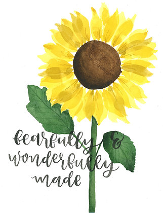Watercolor PRINTABLE - Sunflower - Donation of $7