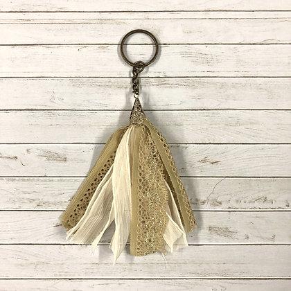 Ribbon + Lace Keychain - Donation of $12