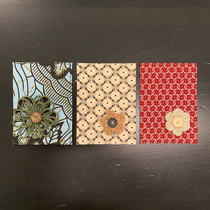 Lussna's African Cards - Flower - 3/set - Donation of $10