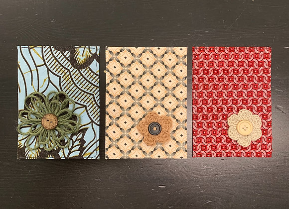 Lussna's African Cards - Flower - 3/set - Donation of $20