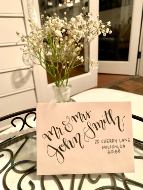 Hand-lettered Envelopes