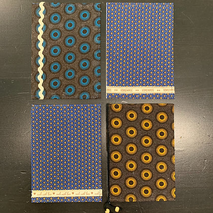 Lussna's African Fabric Cards - 4/set - Donation of $15