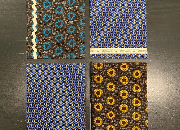 Lussna's African Fabric Cards - 4/set - Donation of $20