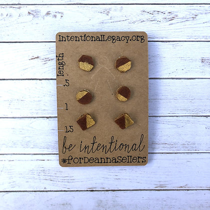 Leather Shapes Studs - Donation of $10
