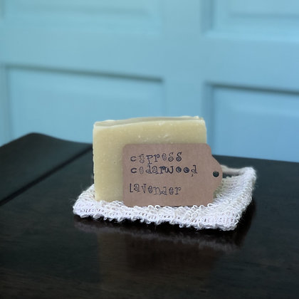 Cypress Cedarwood Lavender Handmade Soap - Donation of $10