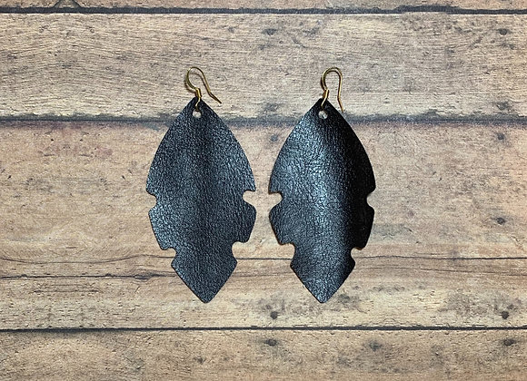 Brown Leather Earrings - Donation of $20
