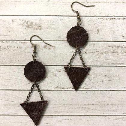 Geometric Leather Earrings - Donation of $12