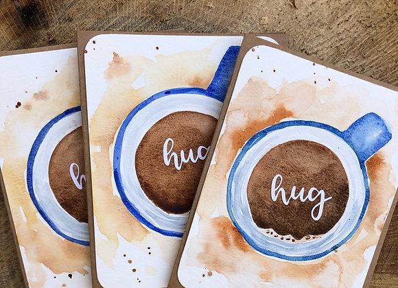 """Hug in a Mug"" Handmade Cards - 3/set - Donation of $10"