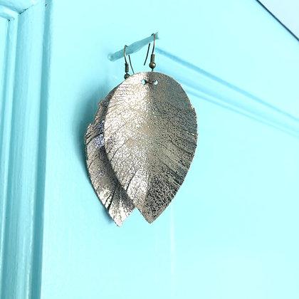 Metallic Leather Earrings - Donation of $12